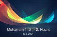 Aschura Veranstaltung in Delmenhorst – 10.08.2021 – Muharram / 2. Nacht